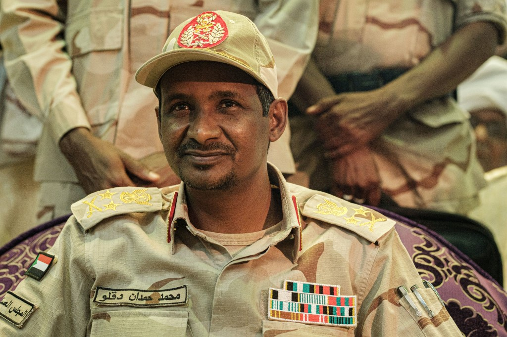 Mohamed Hamdan Dagalo, deputy head of Sudan's Transitional Military Council, is pictured in Khartoum on 18 June (AFP)