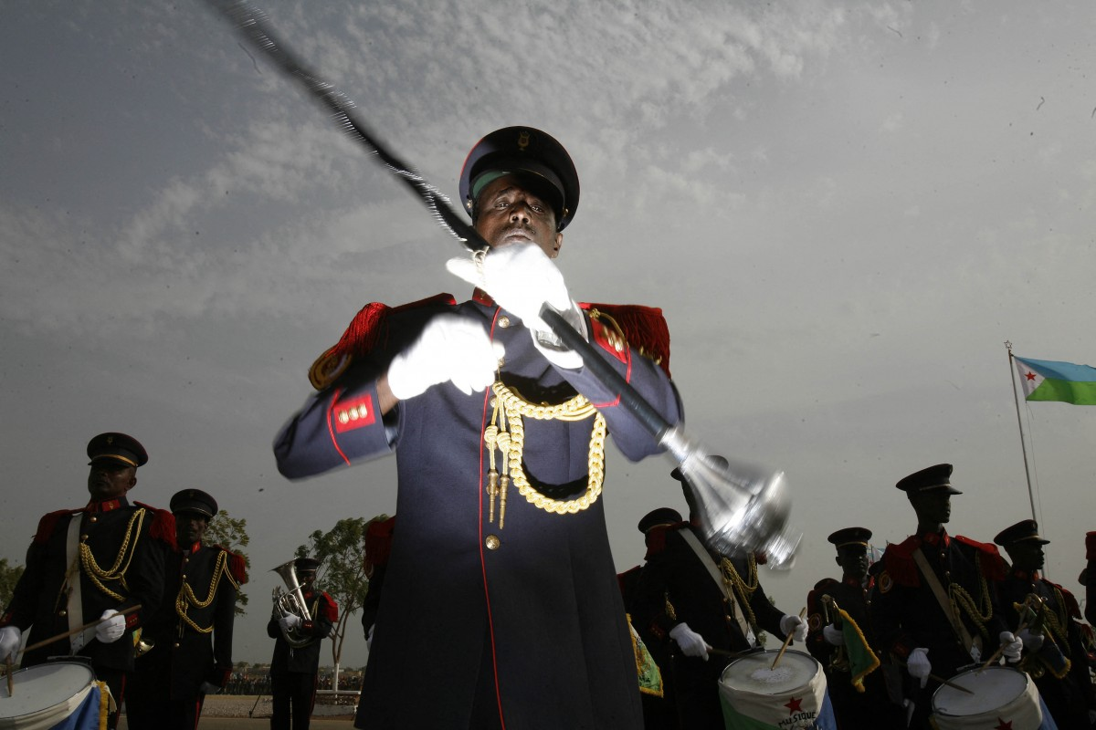 A band plays music during a military parade on 27 June 2007 marking the 30th anniversary of Djibouti's Independence, in Djibouti city (AFP)