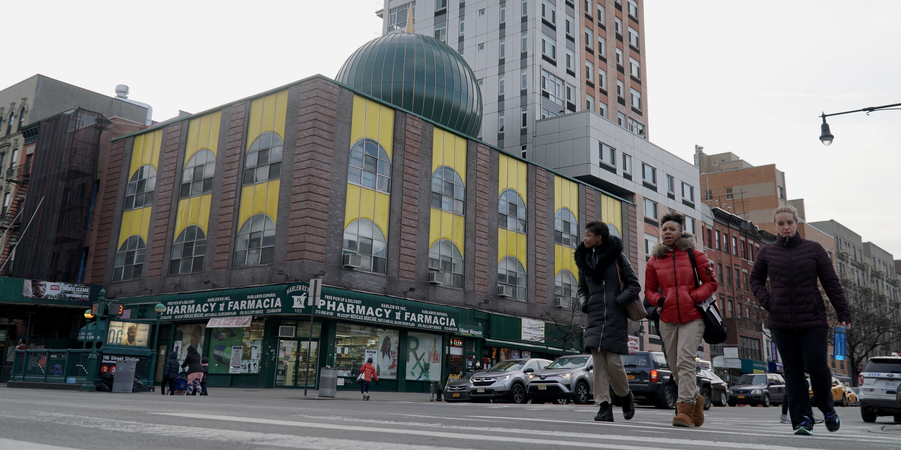 The Malcolm Shabazz Mosque is located in the heart of Harlem and home to a large West African community [Azad Essa/MEE]