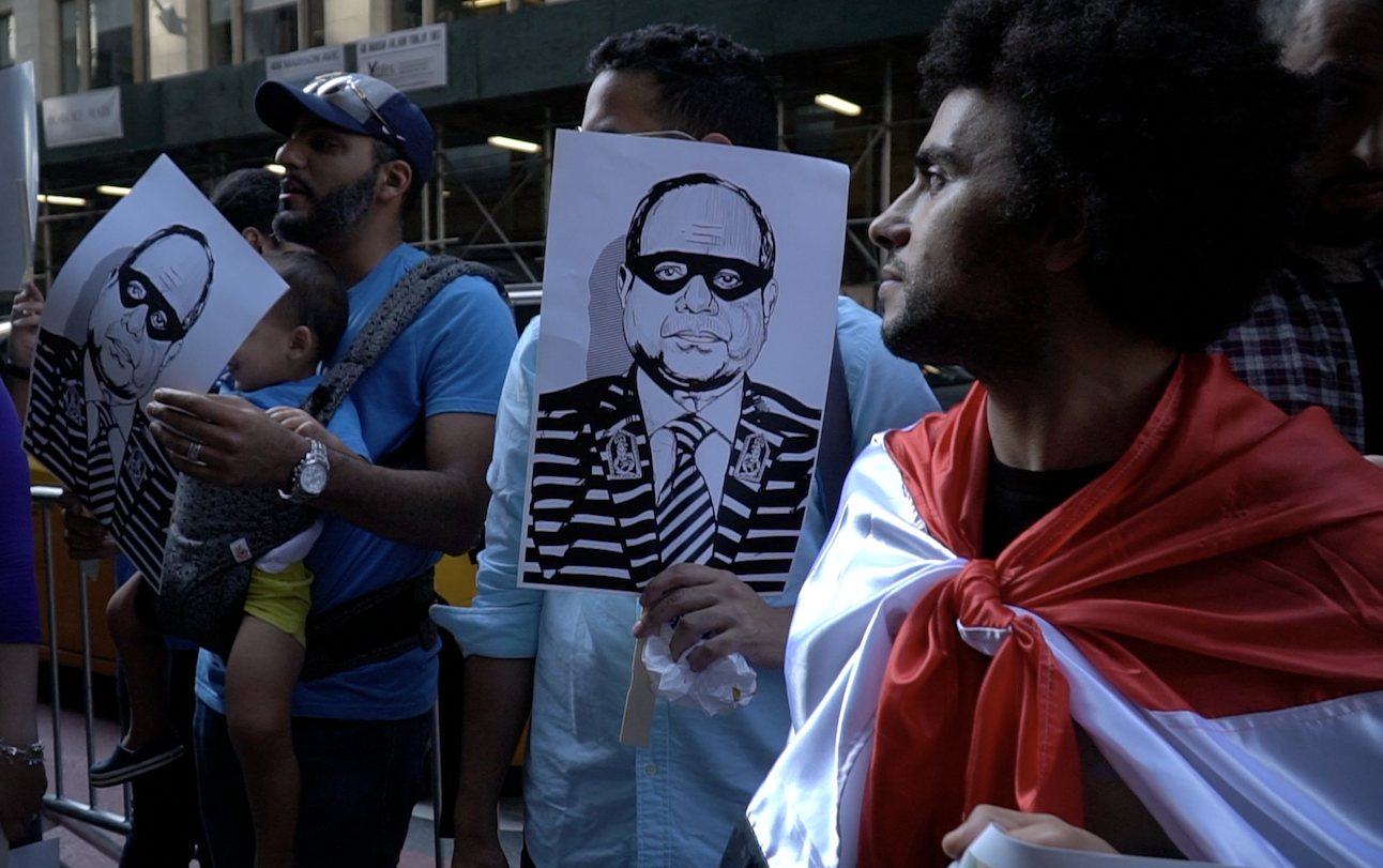 Protesters called for Sisi to step down [Middle East Eye]