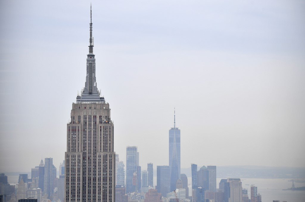 The Empire State Building and other New York skyscrapers are pictured on 6 August (AFP)