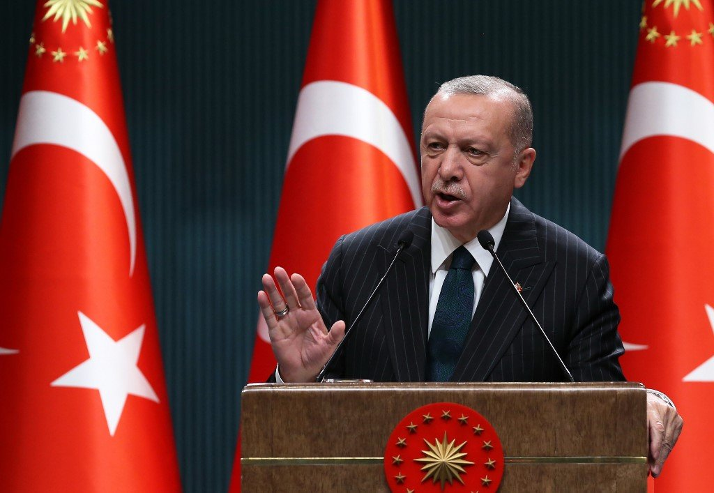Turkish President Recep Tayyip Erdogan speaks in Ankara on 24 August (AFP)