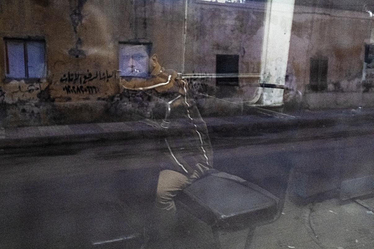 Photo issue de la série Waltz with the tram de Fatma Fahmy (avec l'aimable autorisation de l'auteure)