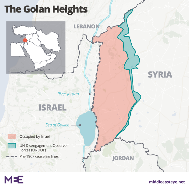 Golan Heights map