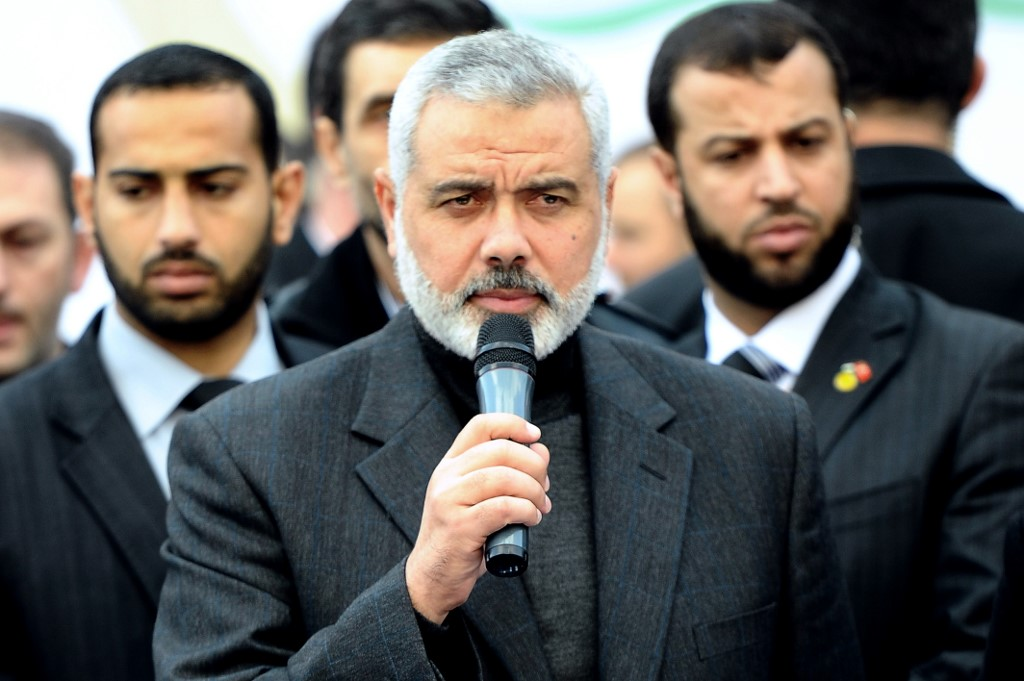 Ismail Haniya, political director of Hamas, says Israel must decide (AFP/file photo)