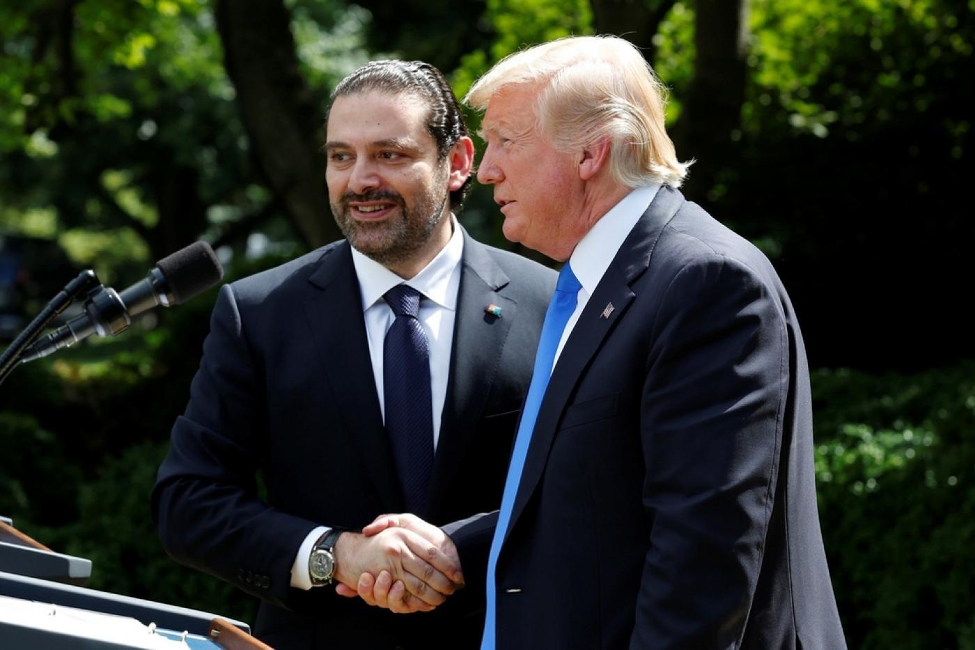 Donald Trump rencontre le Premier ministre libanais Saad Hariri à Washington, en juillet2017 (Reuters)