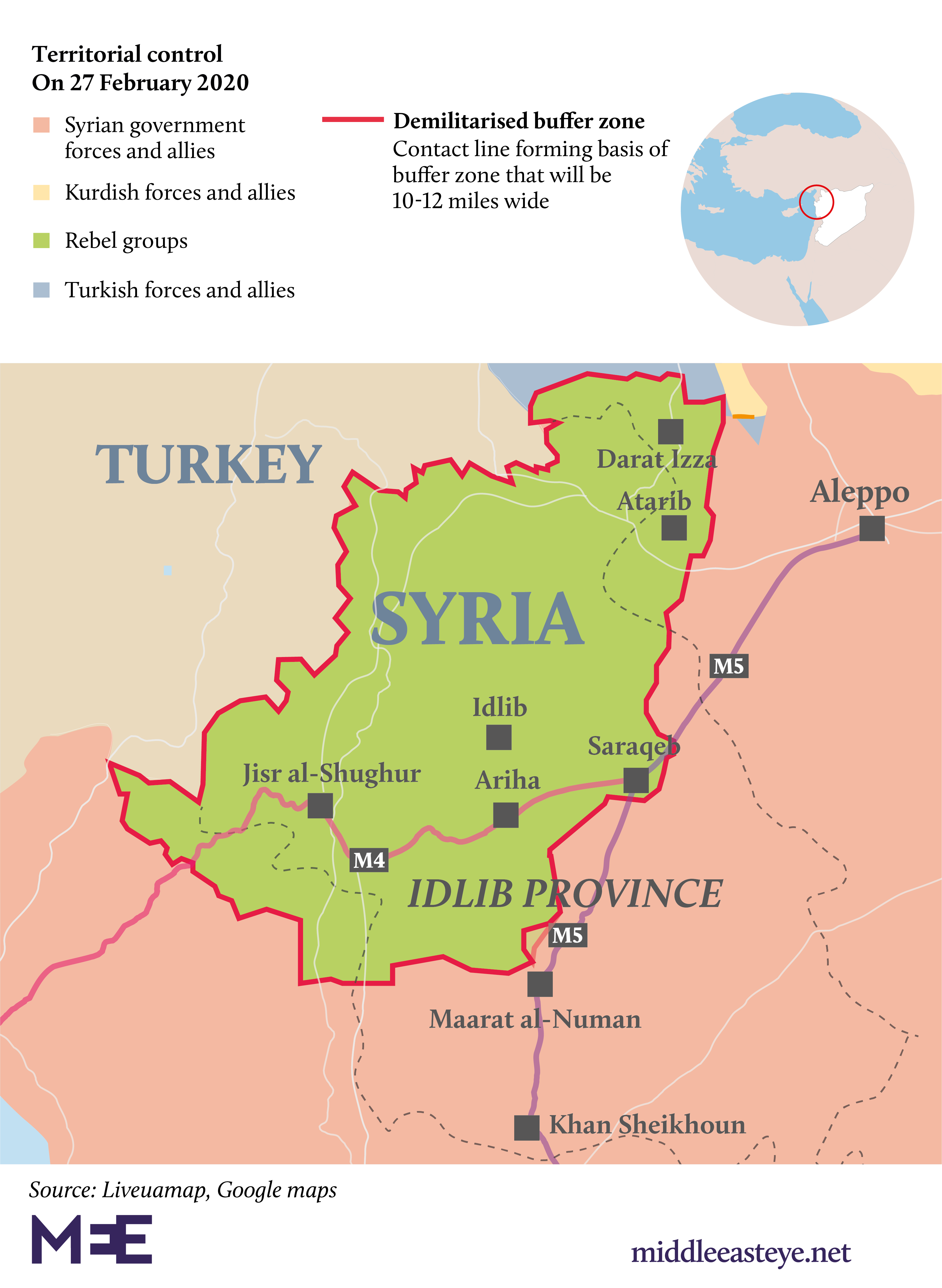 Map of Idlib: Who controls what