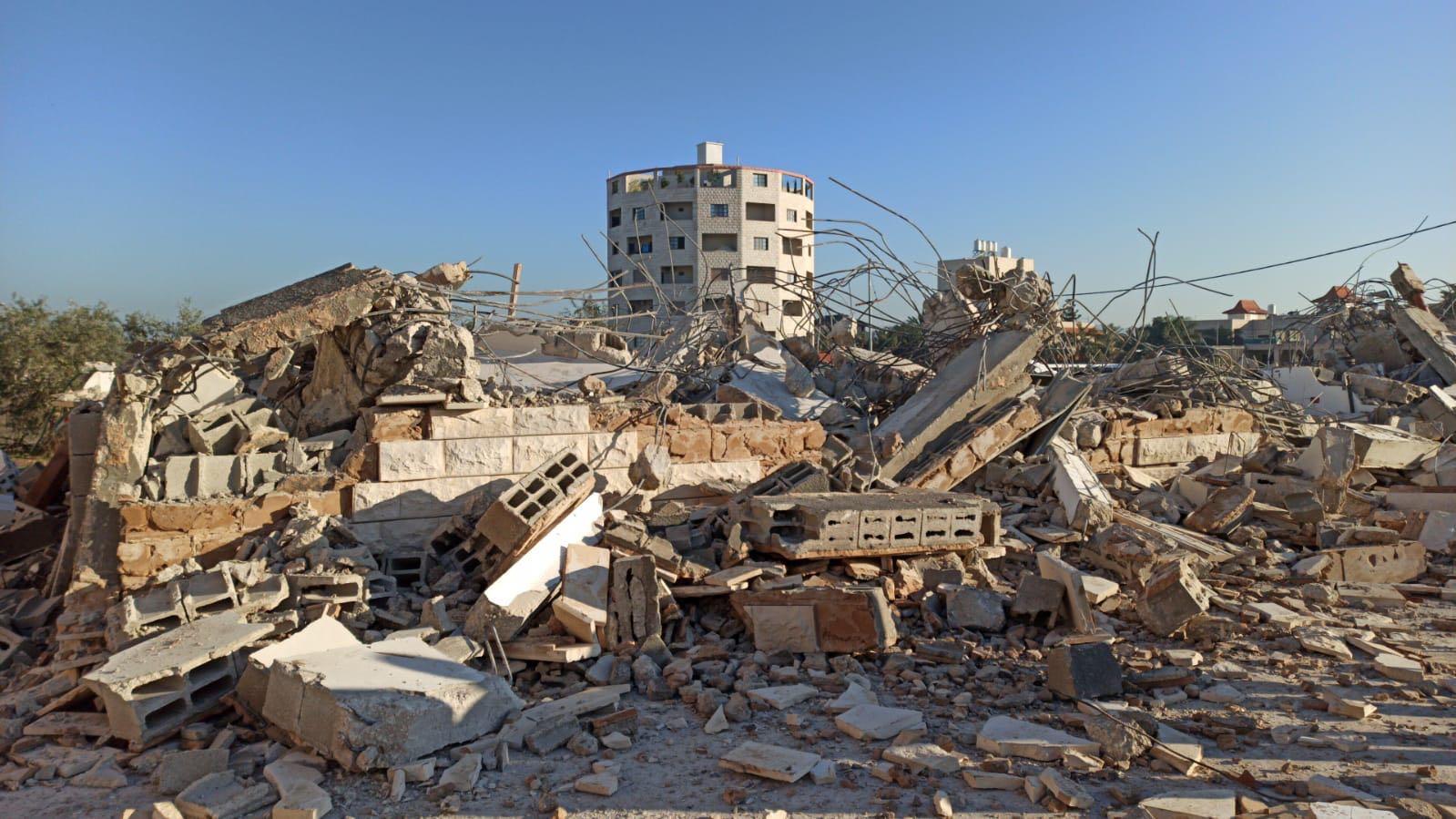 The house of a Palestinian prisoner demolished in Jenin (MEE/Abd Alkarim Saadi  Betselem)