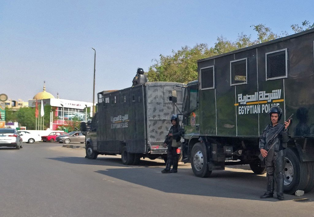 Egyptian security forces have intensified their presence in major squares in the capital (File/AFP)