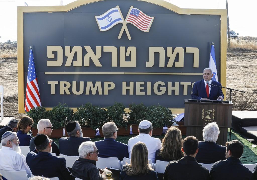 Netanyahu inaugurates 'Trump Heights' Israeli settlement in occupied Golan Heights