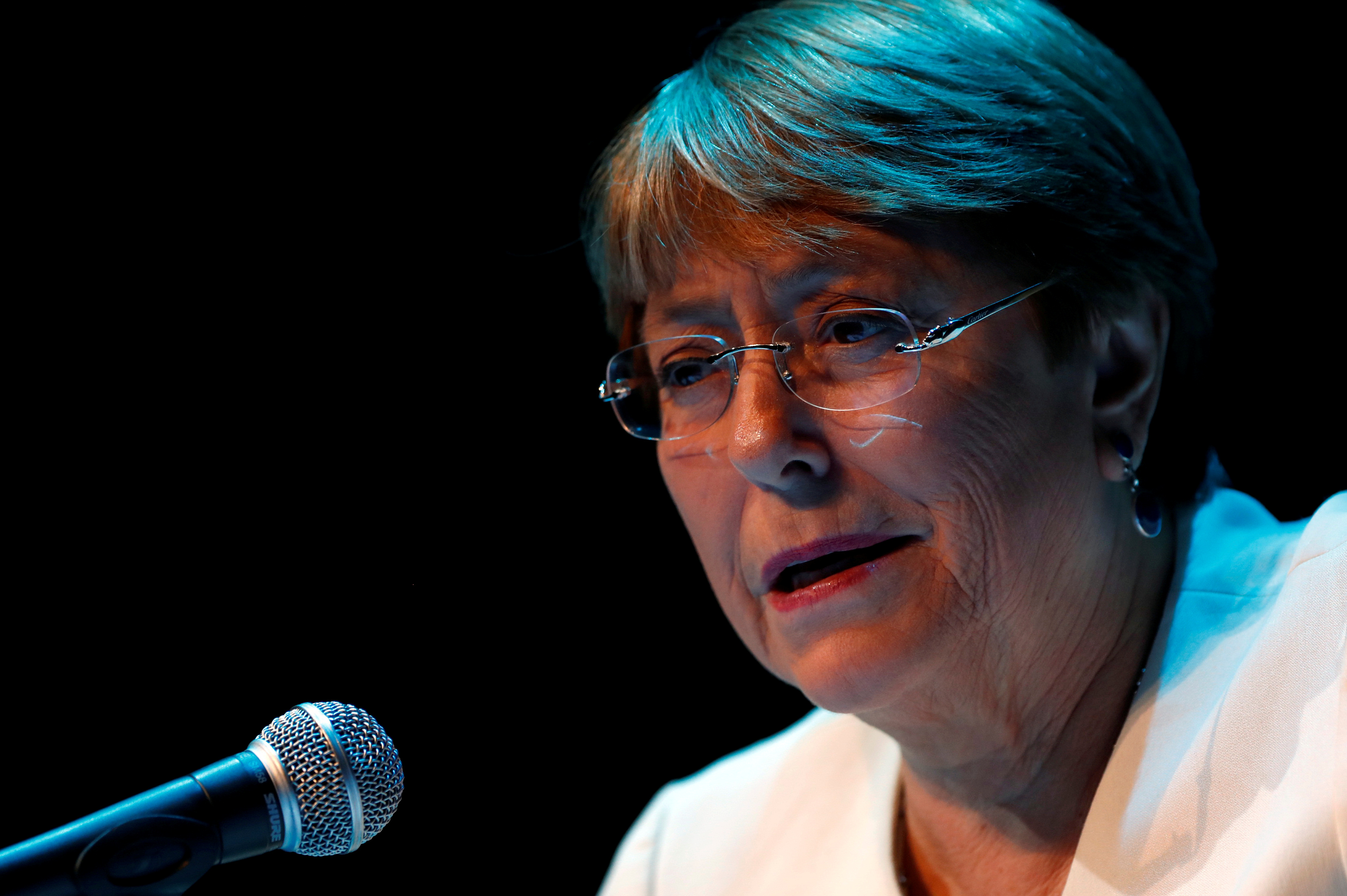 UN human rights chief Michelle Bachelet on Monday (AFP)