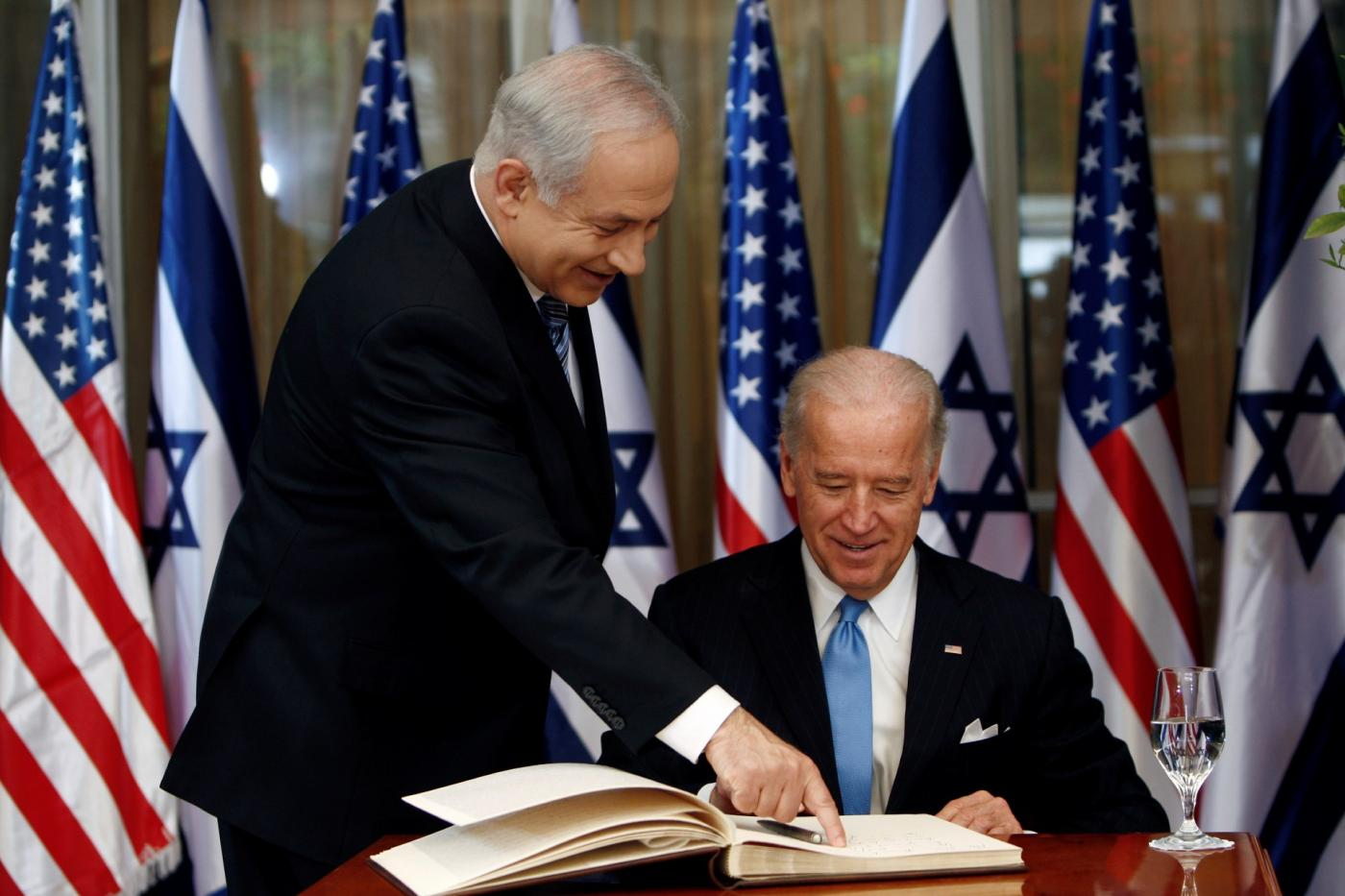Biden and Israeli Prime Minister Benjamin Netanyahu meet in Jerusalem in 2010 (Reuters)