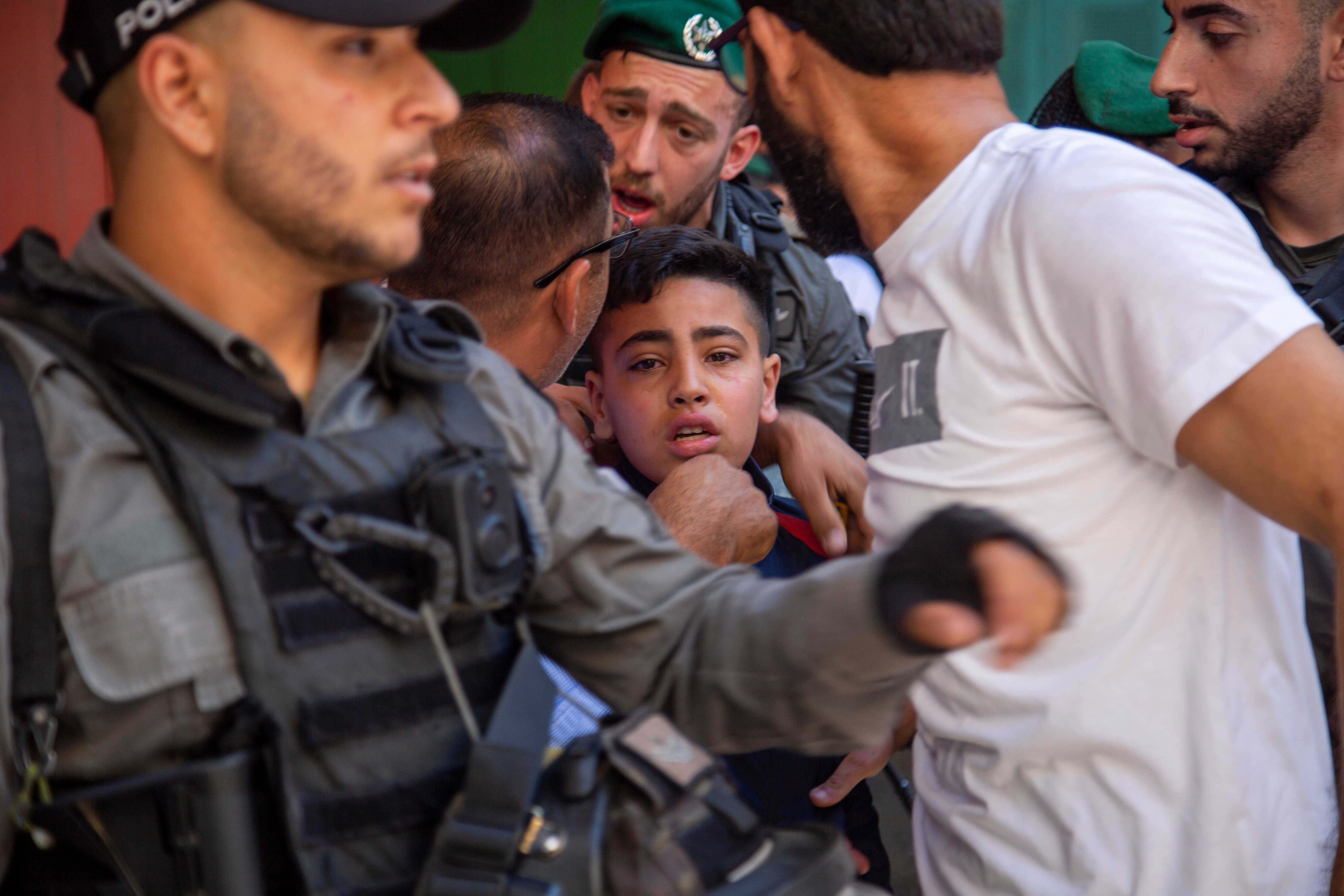 Israeli forces arrested scores of Palestinians as they took to the streets to peacefully express their opposition to Israel's actions in Gaza (MEE/Latifeh Abdellatif)