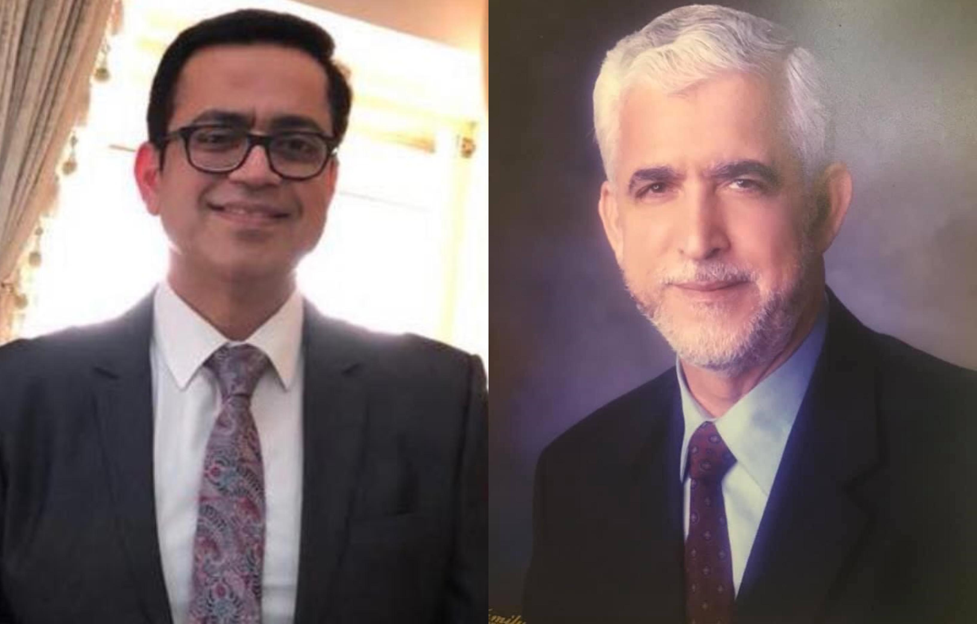 Hamas diplomat Mohammed al-Khudari (R) and his son, Hani, are imprisoned in Saudi Arabia (Twitter/@AmnestyGulf)