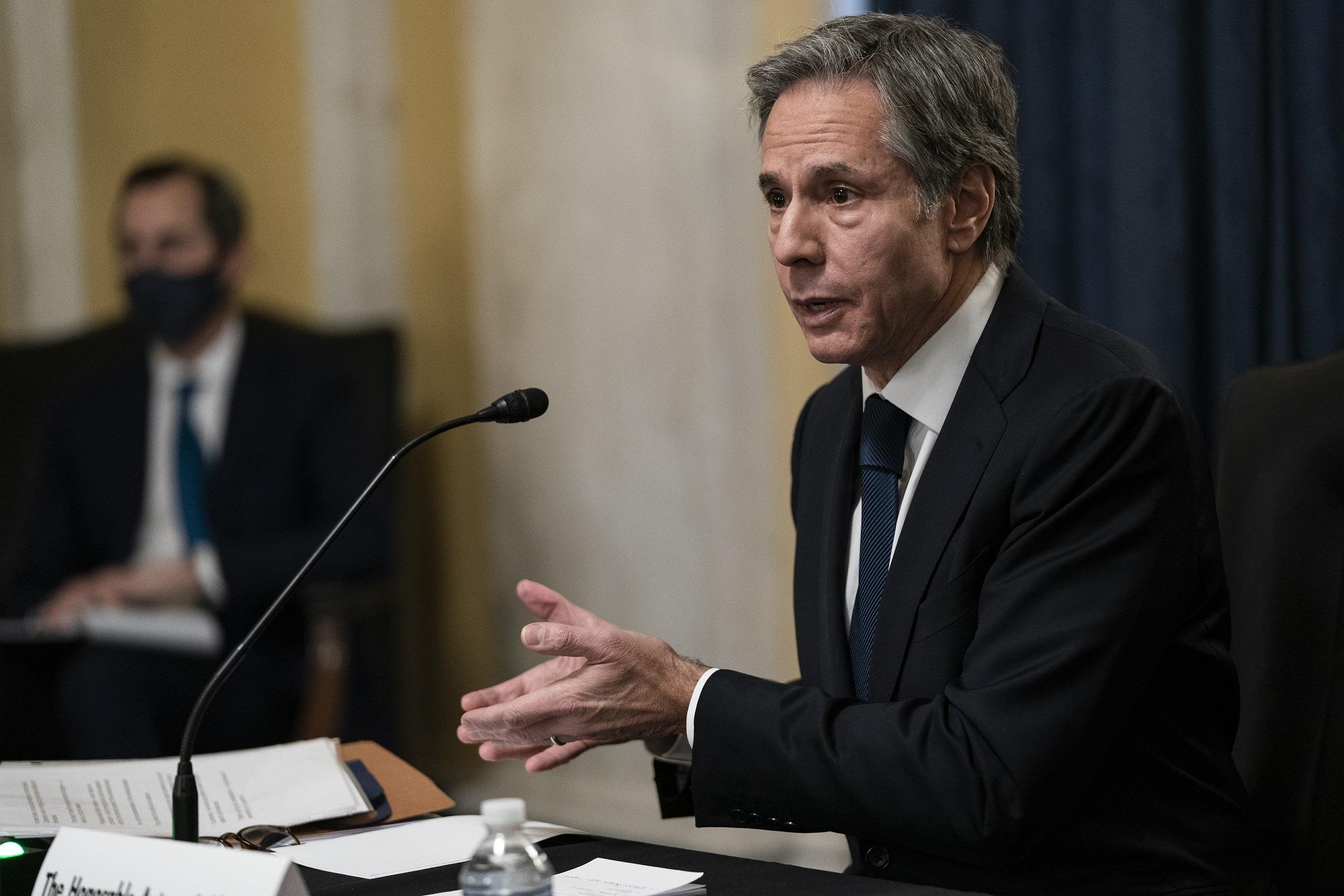 US Secretary of State Antony Blinken has said Iran should make the first move (AFP)