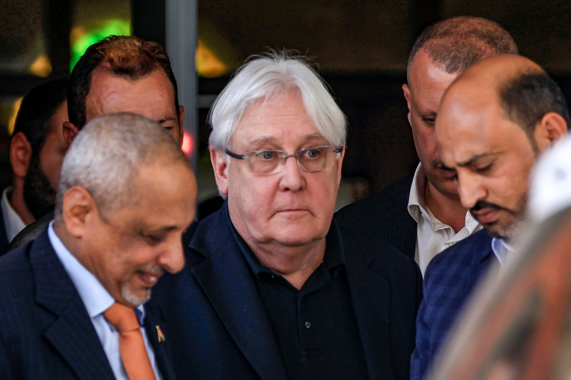 UN envoy Martin Griffiths told the security council that fighting in Marib threatened to displace tens of thousands (AFP)
