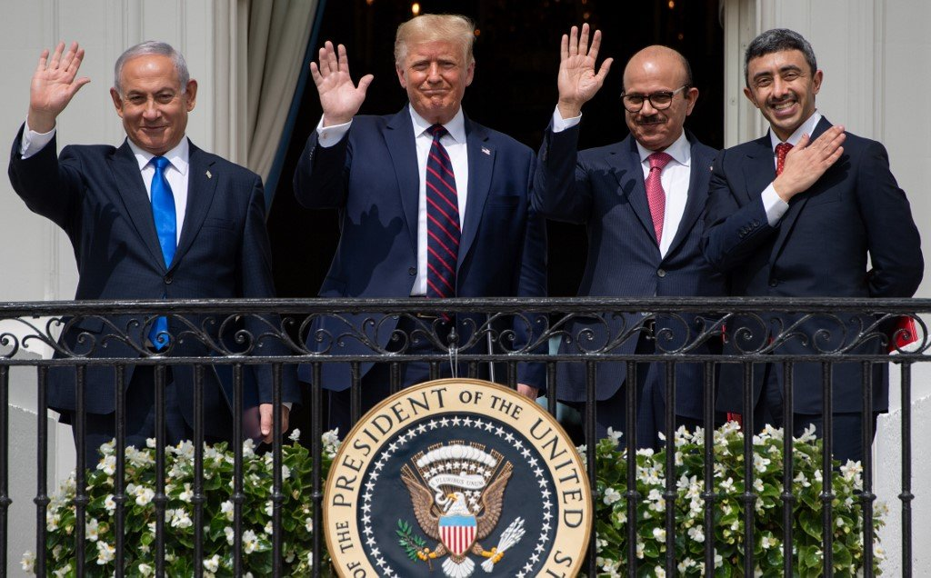 The signing of the Abraham accords