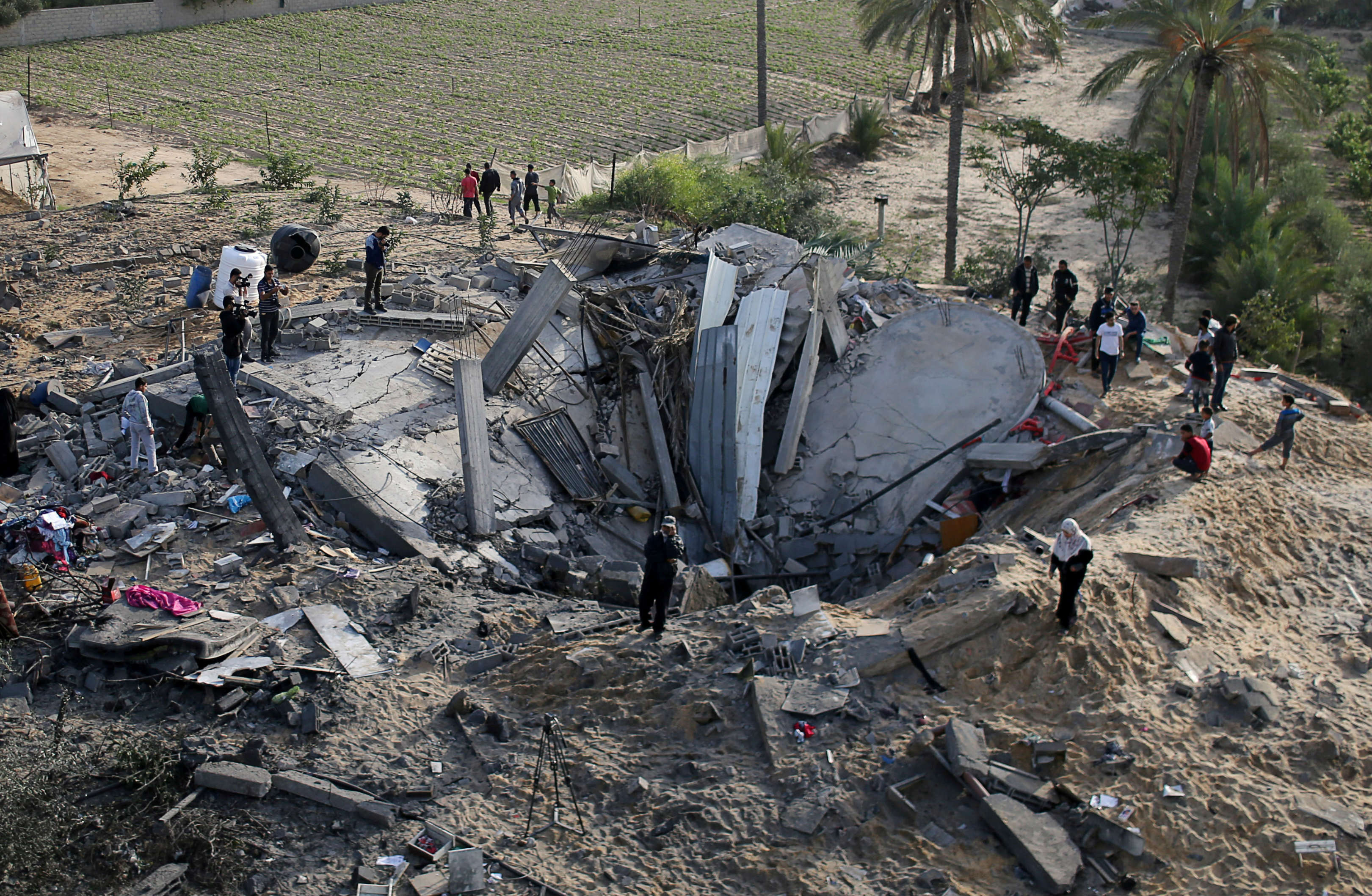 Palestinian death toll rises to 19 as Israel continues air strikes against Gaza