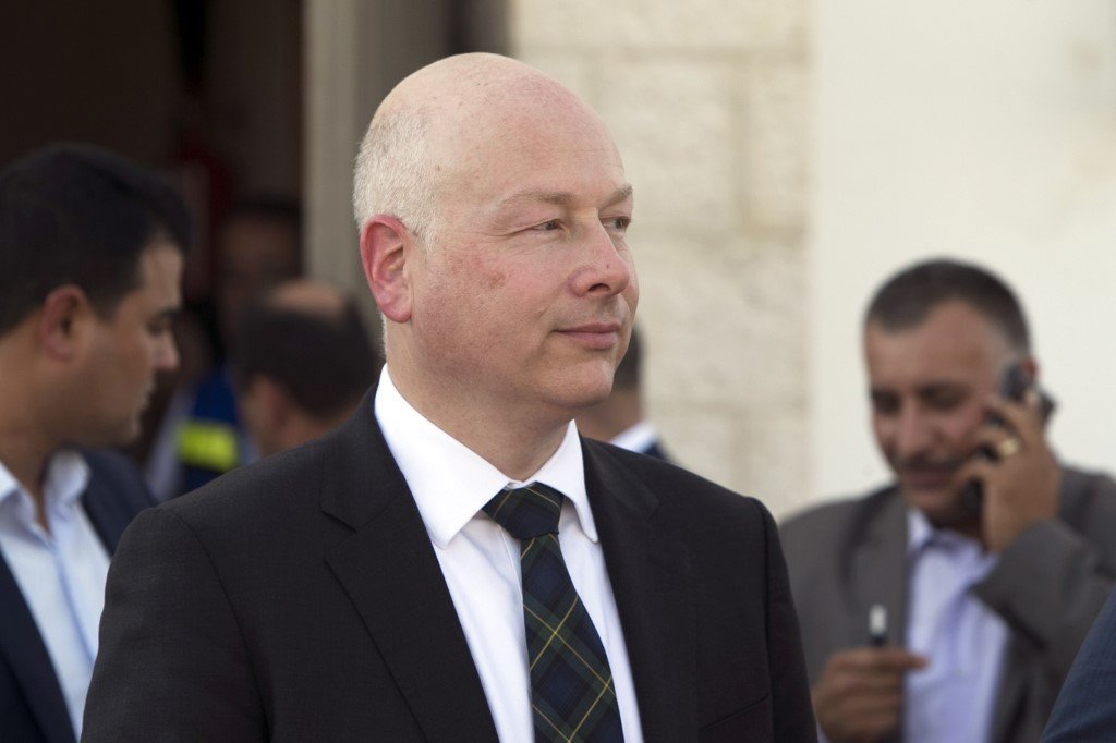 US special envoy Jason Greenblatt is seen in Jericho in the occupied West Bank in 2017 (AFP)