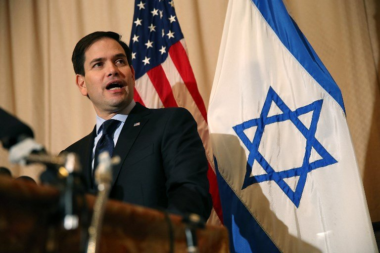 Senator Marco Rubio said states have a right to ban companies that boycott Israel (AFP/File photo)