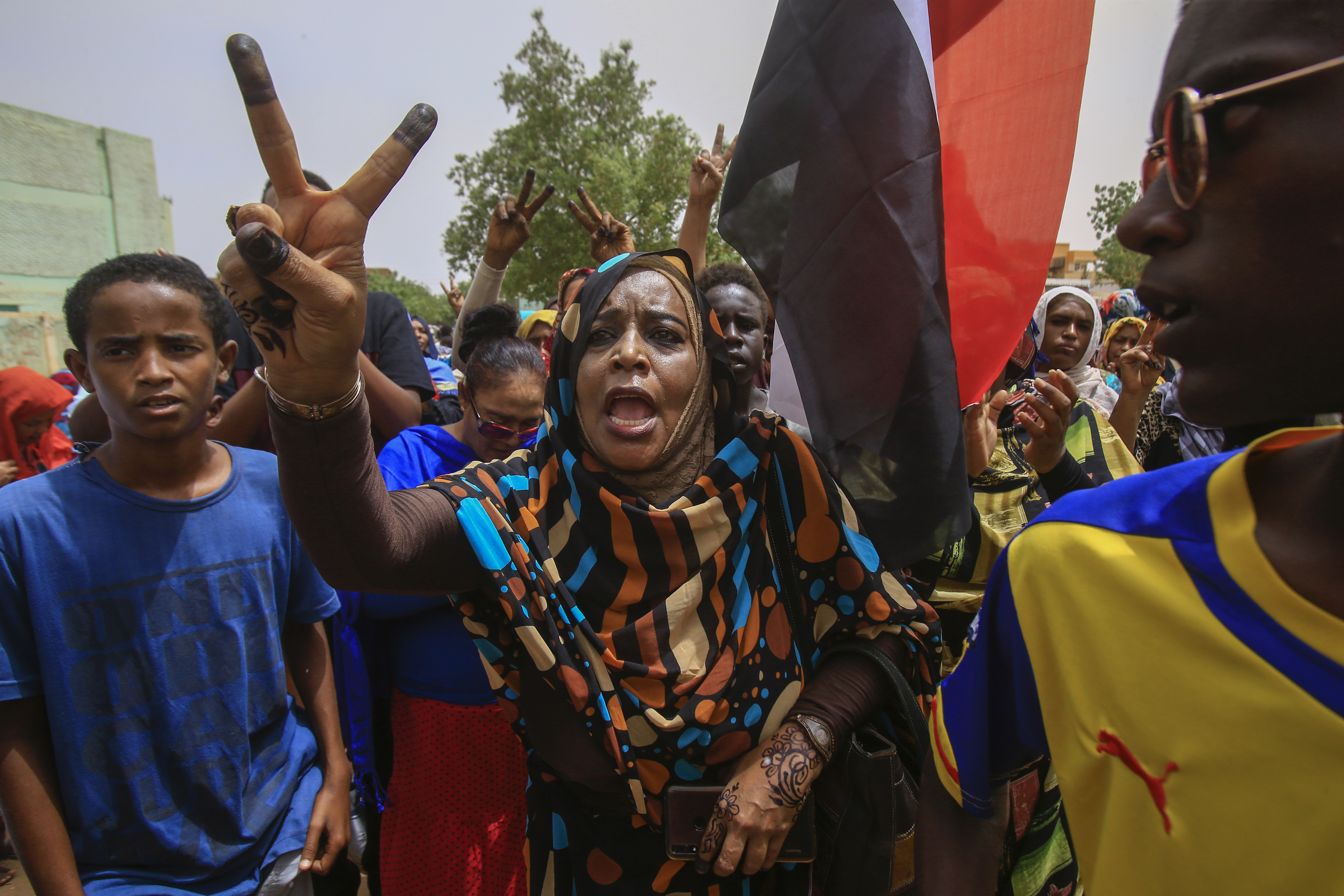 Demonstration against Sudan's ruling generals in Khartoum on 30 June (AFP)