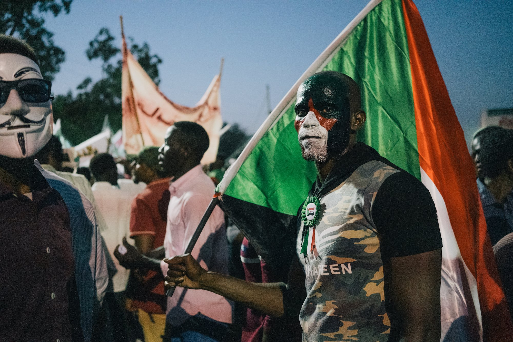 After sunset, Sudan's protesters take to the streets