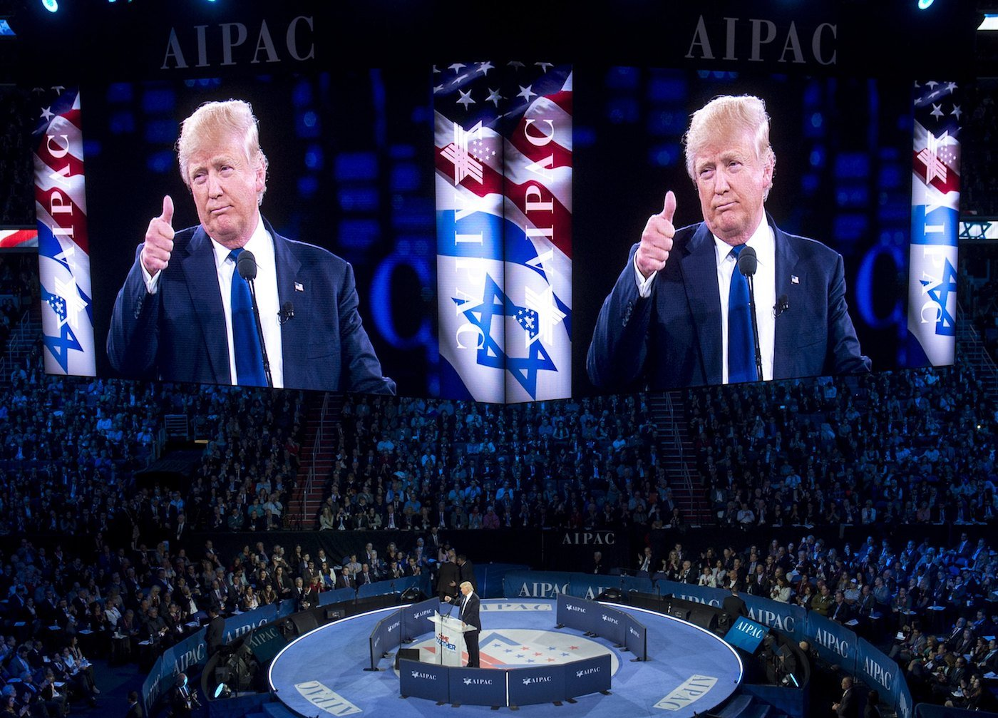 Donald Trump received raucous applause during a speech at the 2016 AIPAC conference (AFP/File photo)