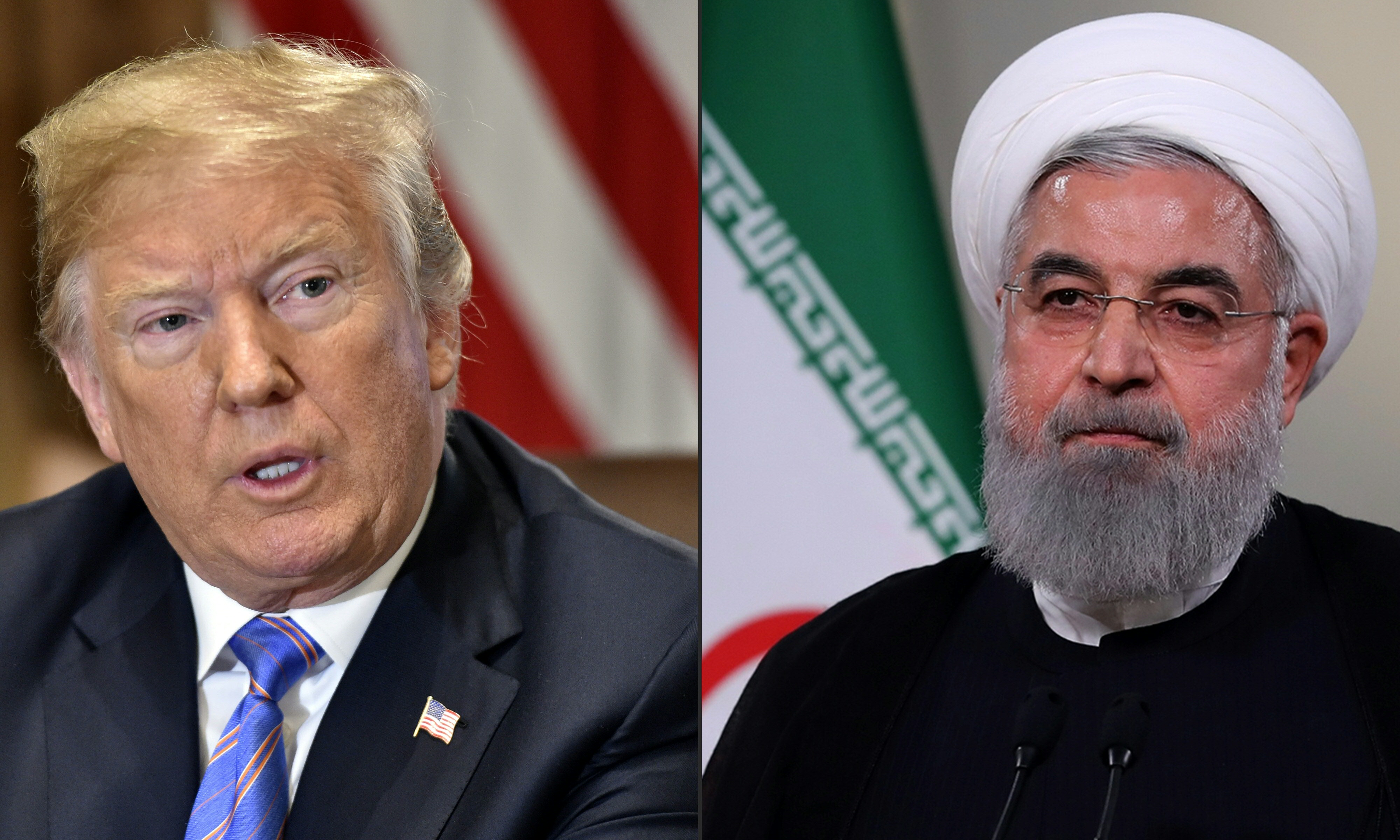 US President Donald Trump and Iranian President Hassan Rouhani may meet this month (AFP)