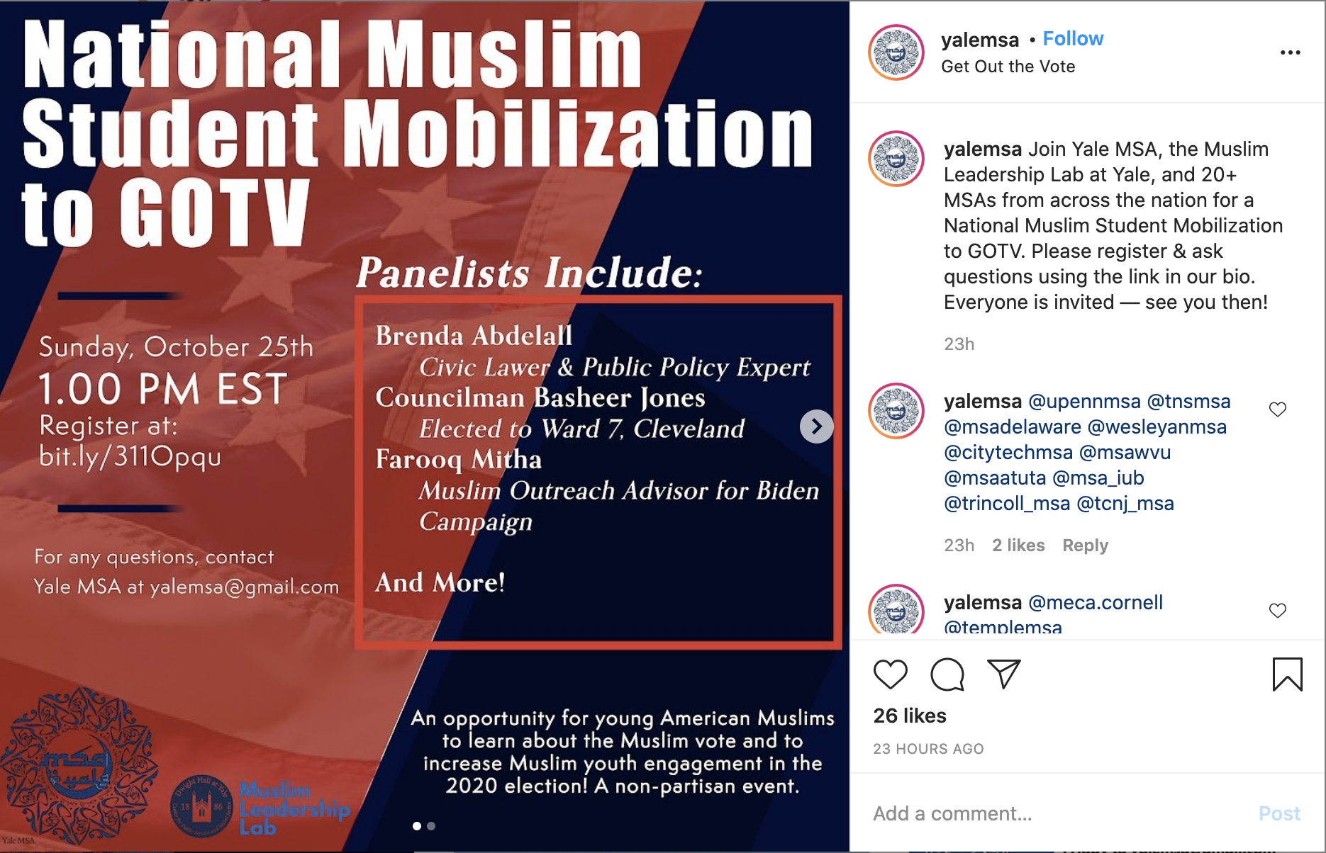 US Muslim student groups drop Emgage from voter mobilisation event