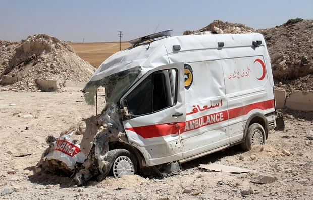 New study finds ambulances 'repeatedly targeted' in Syria conflict