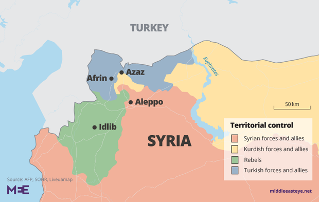 Northern Syria map