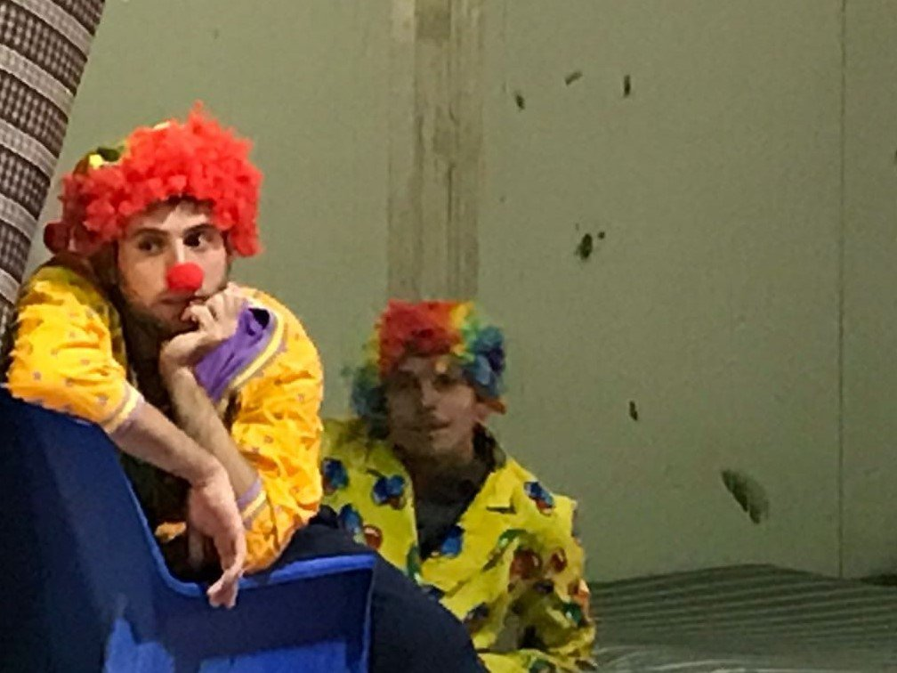 There were two clowns in our troupe of performers who got the most laughs