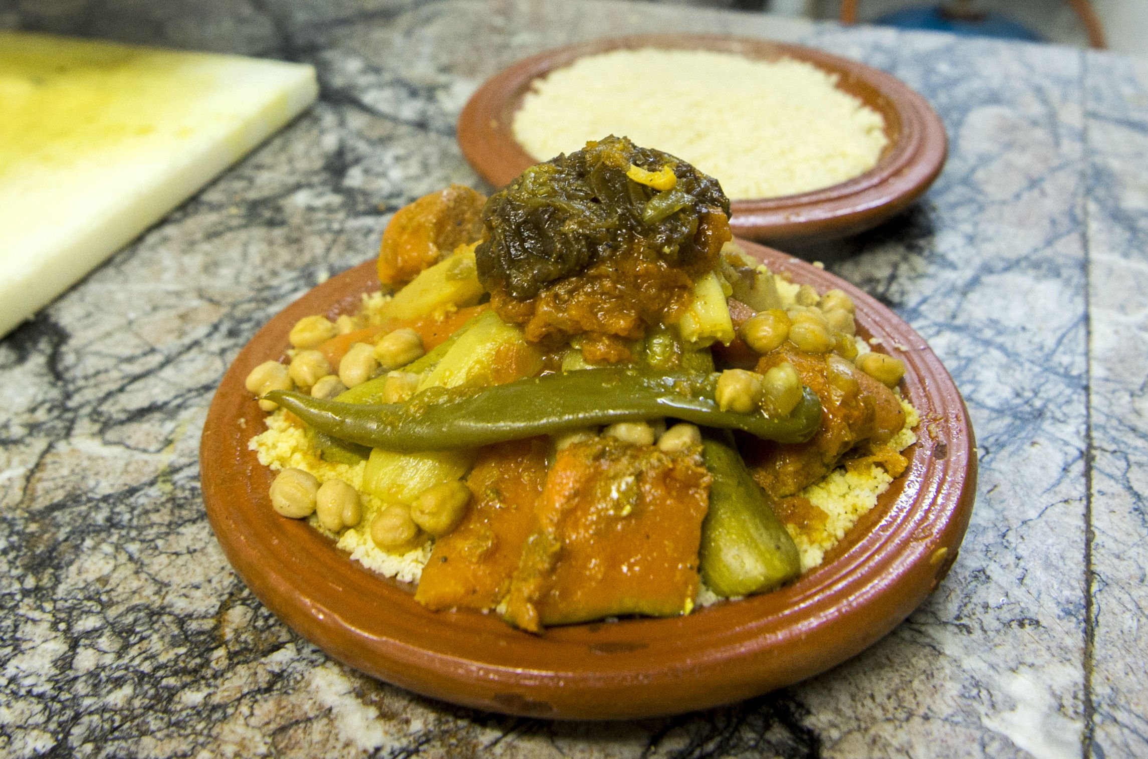Couscous is prepared at a restaurant in Rabat in February 2018 (AFP)