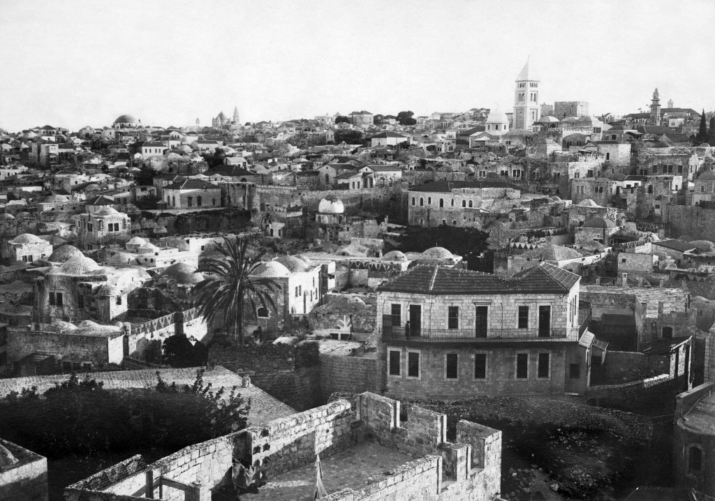 An undated photo, likely taken in the 1930s, shows a general view of Jerusalem (AFP)