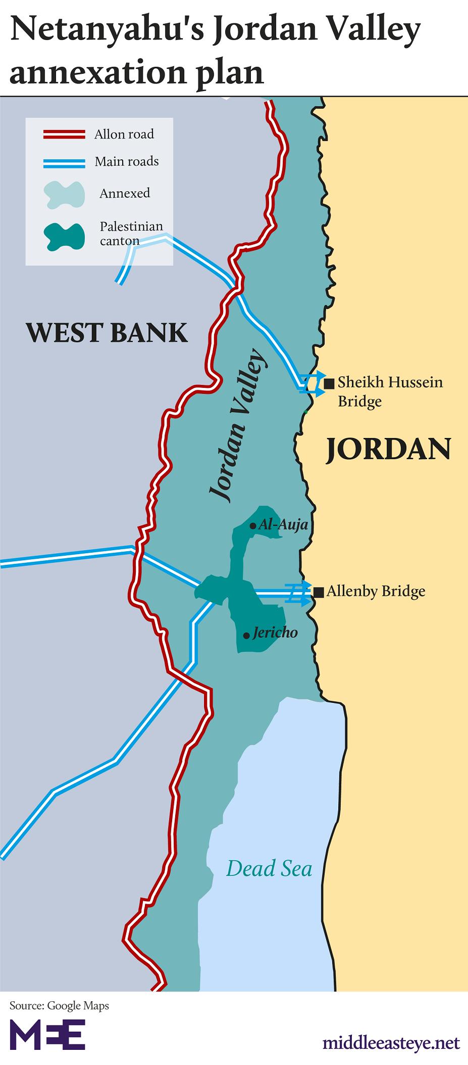 Netanyahu, Israel, annex Jordan Valley
