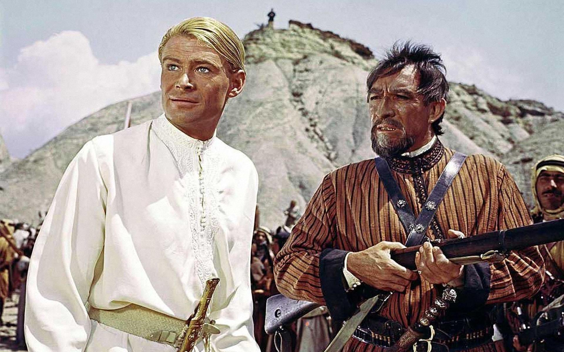 Peter O'Toole and Anthony Quinn star in the 1962 David lean production of Lawrence of Arabia