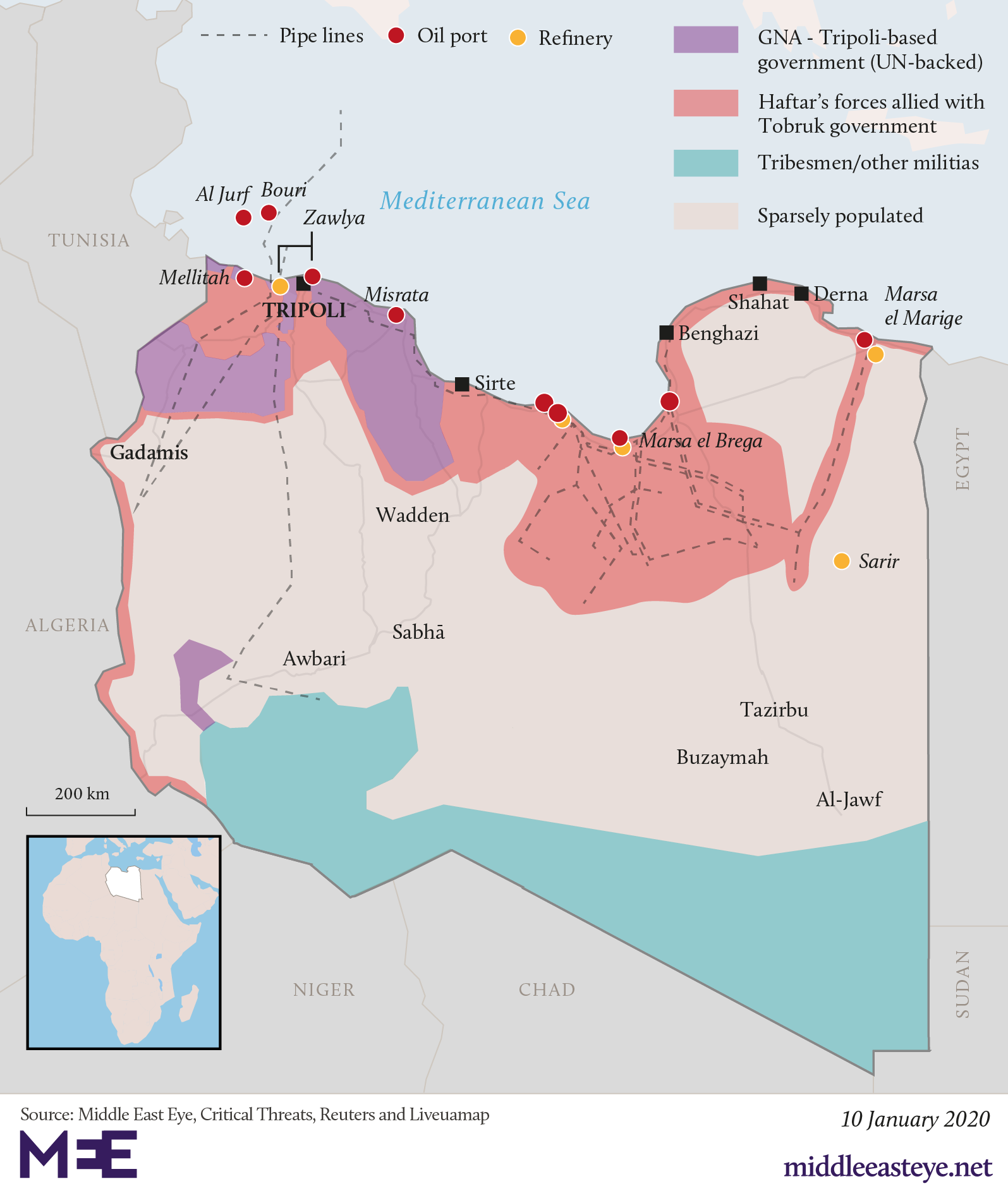 Libya: Who controls what?