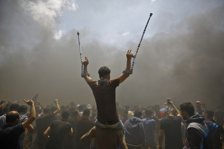 Gaza killings: UN 'gravely concerned' by Israeli targeting of protesters