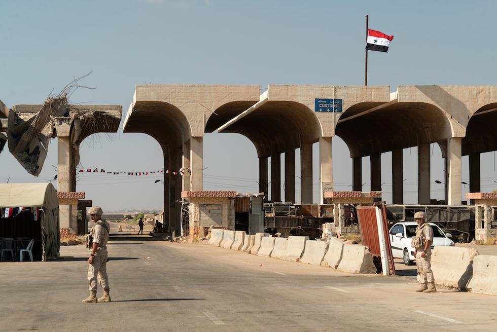 Jordan says key border post with Syria to reopen Monday