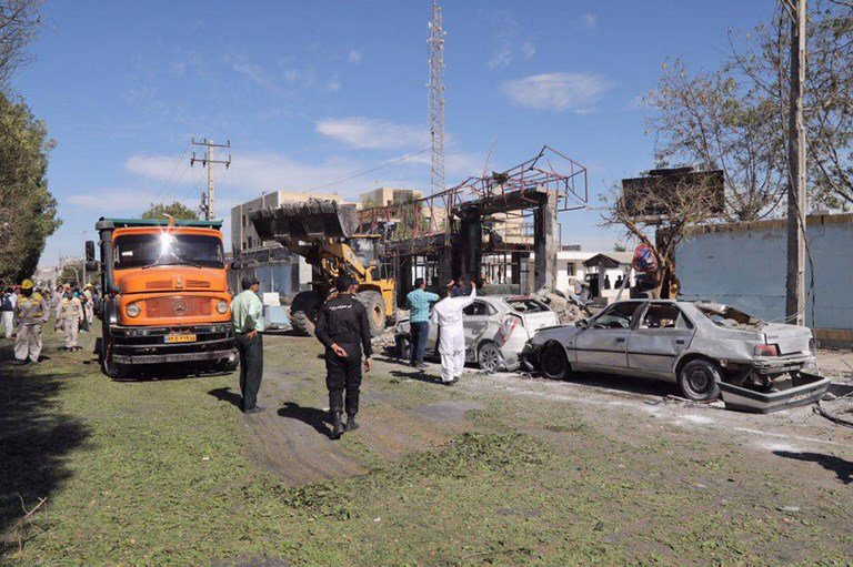 Suicide bomber kills three outside police station in Iran's Chabahar