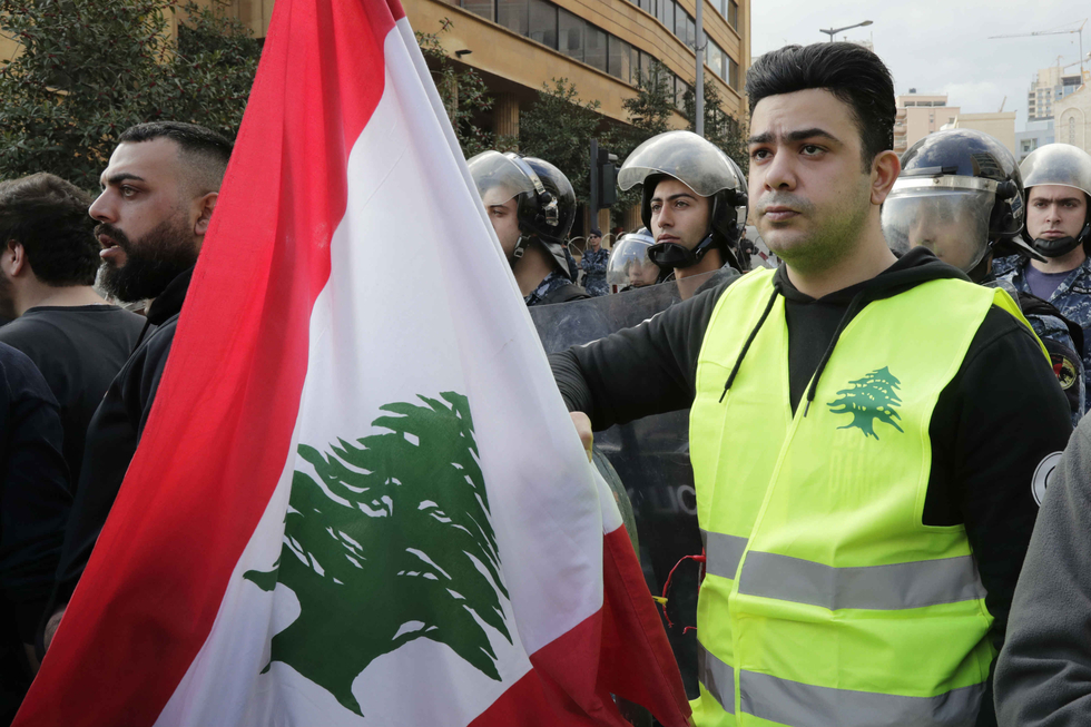 Thousands of Lebanese protest against failing economy and politicians in Beirut