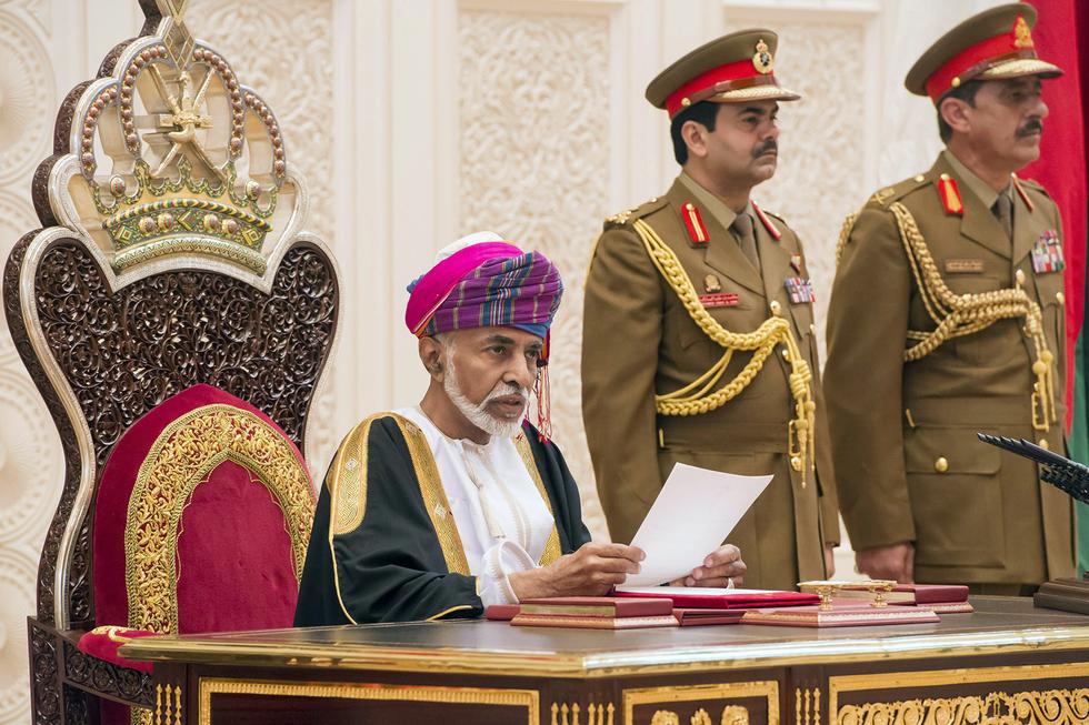 oman ruler meets british royals in rare appearance