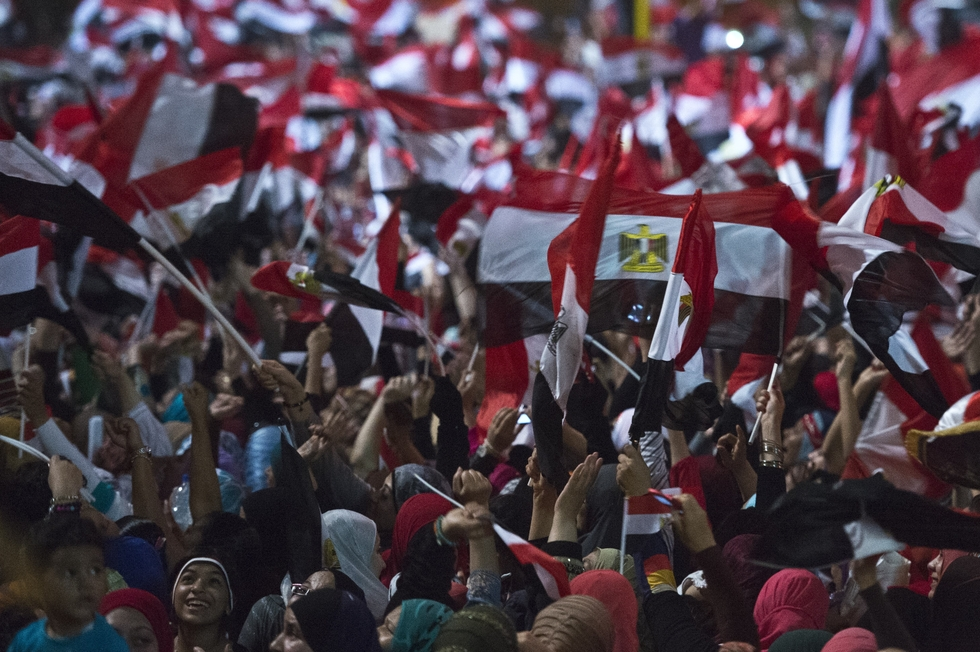 Egyptians rally in Tahrir Square during the 2011 Arab Spring (AFP)