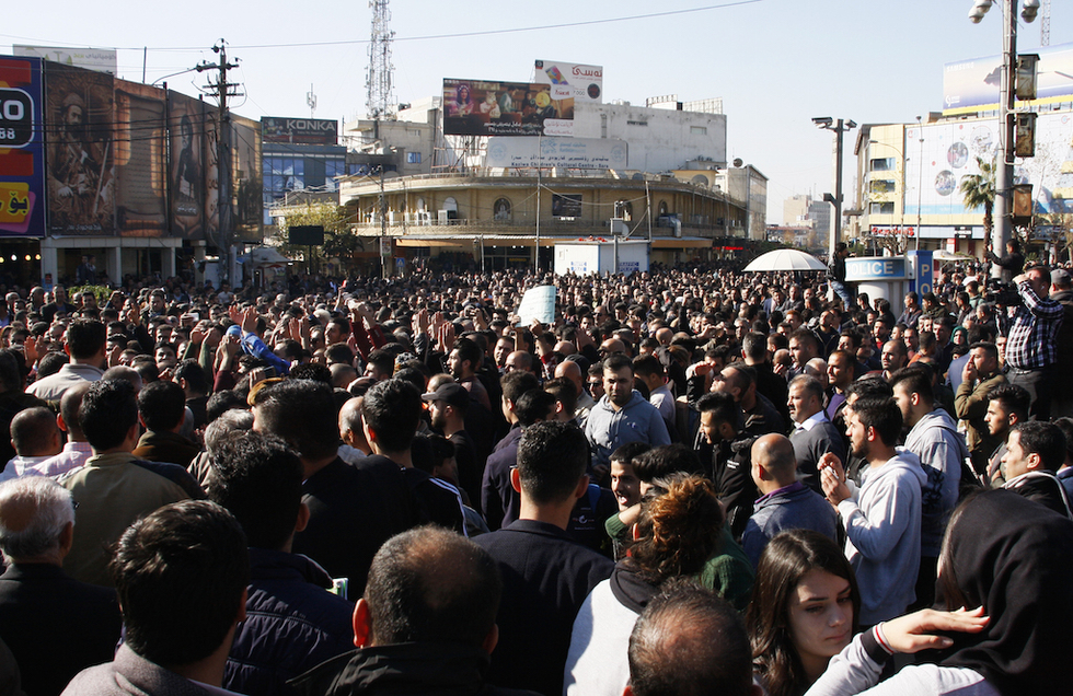Iraqi Kurdistan's Gorran party withdraws from government after protests