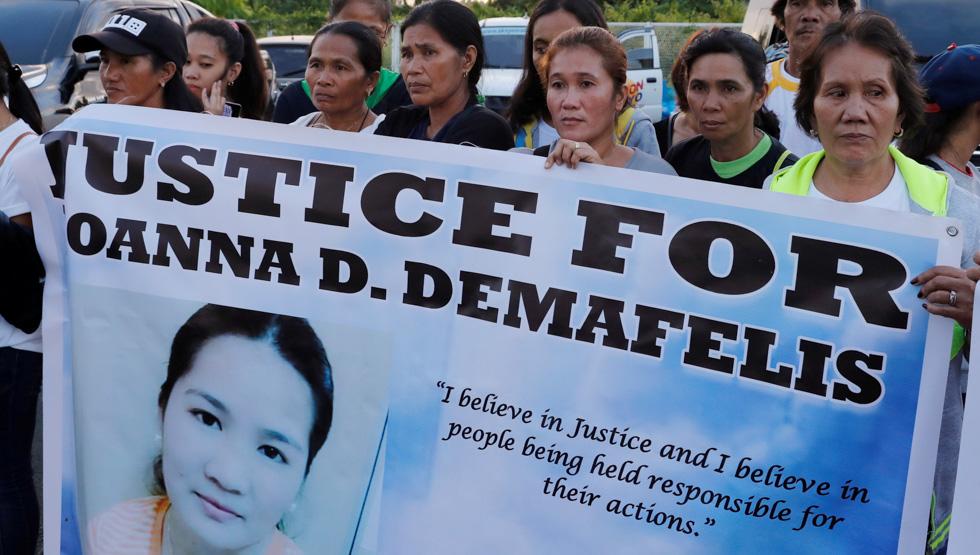 Kuwait court sentences couple to death for Filipina maid's murder