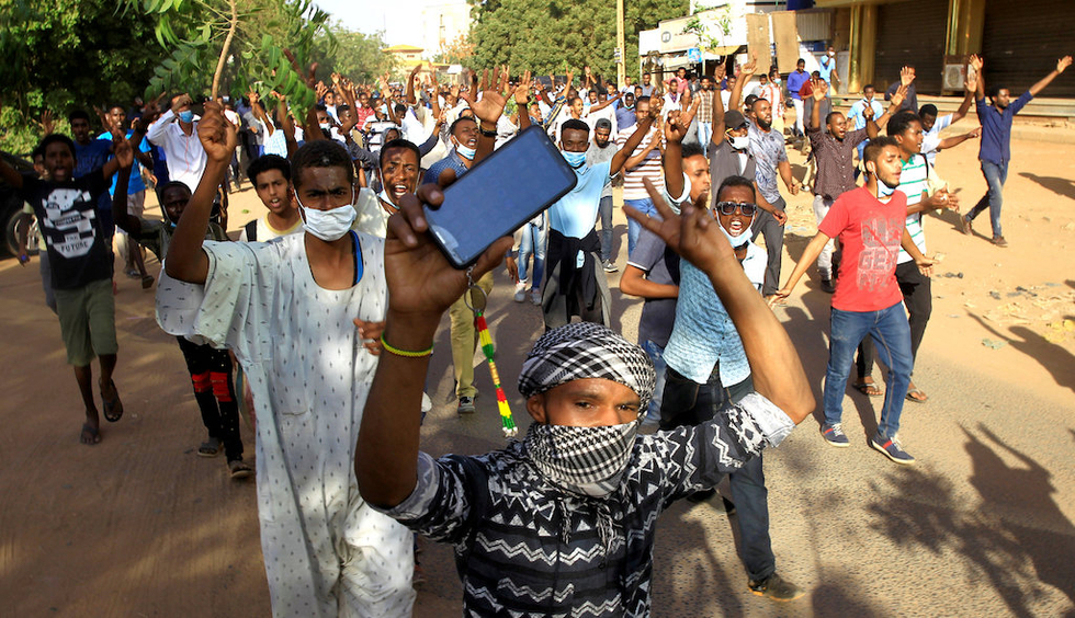 The roiling protests have been one of the most serious challenges to Omar al-Bashir's 30-year rule (Reuters)