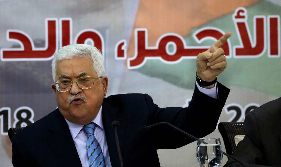 PLO council votes to suspend recognition of state of Israel