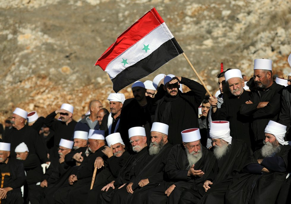 Druze Arabs in the Golan Heights (REUTERS)
