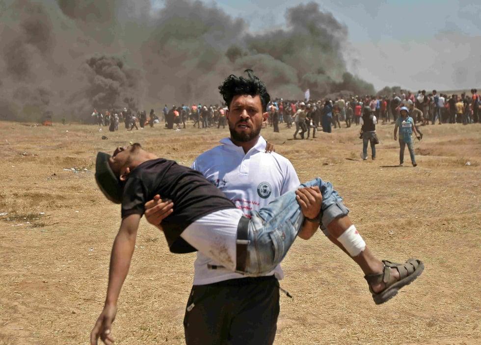 'Burn them, shoot them, kill them': Israelis cheer in Jerusalem as Palestinians shot in Gaza