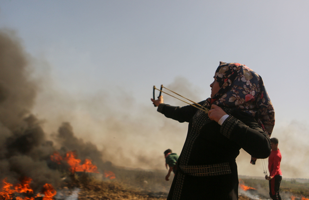 Gazan women join protests to defy Israeli claim their place is at home